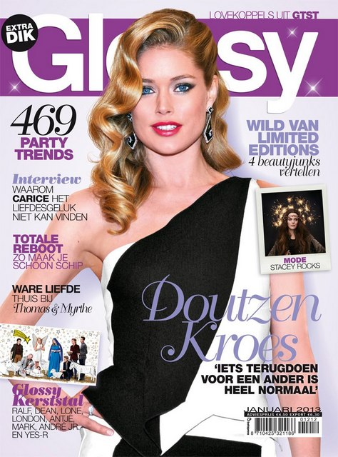 vrouw glossy contact